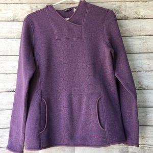 EDDIE BAUER Hooded Purple Sweater